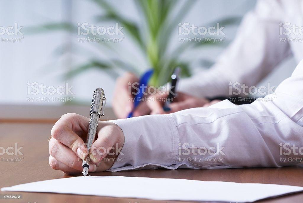 Writing girl royalty-free stock photo