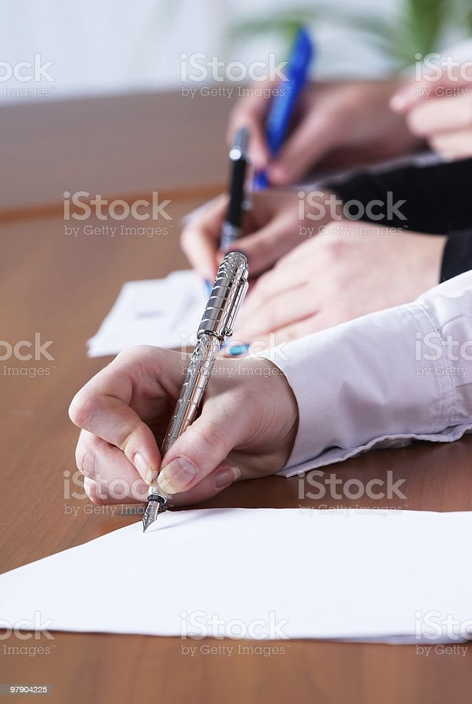 Writing girl royalty-free stock photo