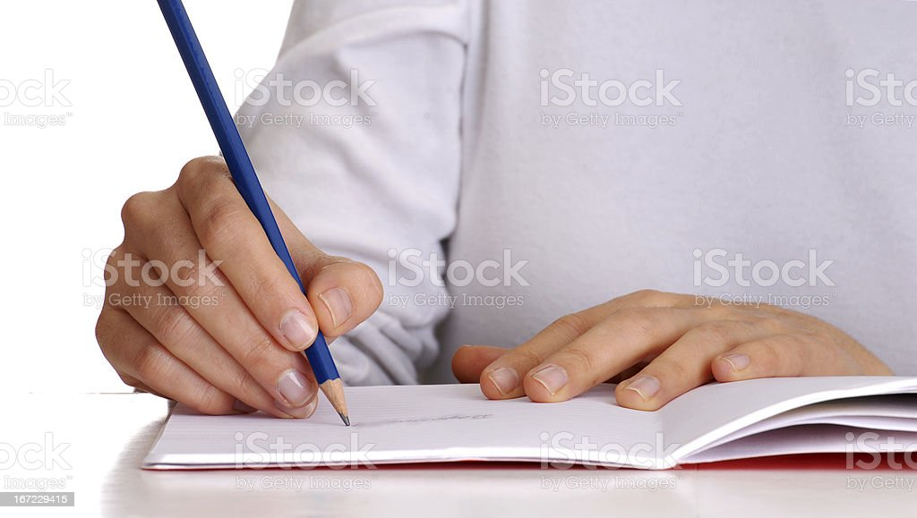 Writing hands. royalty-free stock photo