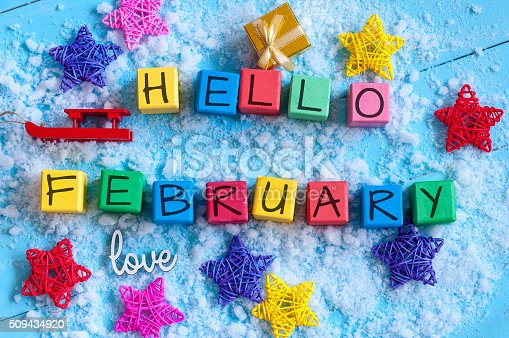 istock writing hello february on toy wooden colour cubes with decor 509434920