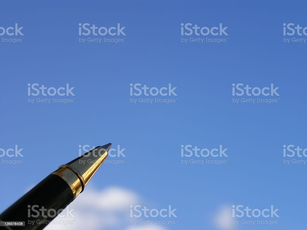 Writing in the sky royalty-free stock photo