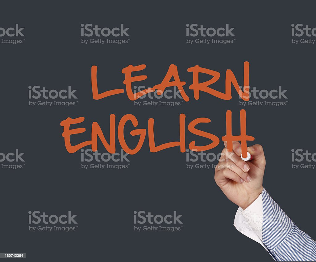 Writing learn english royalty-free stock photo