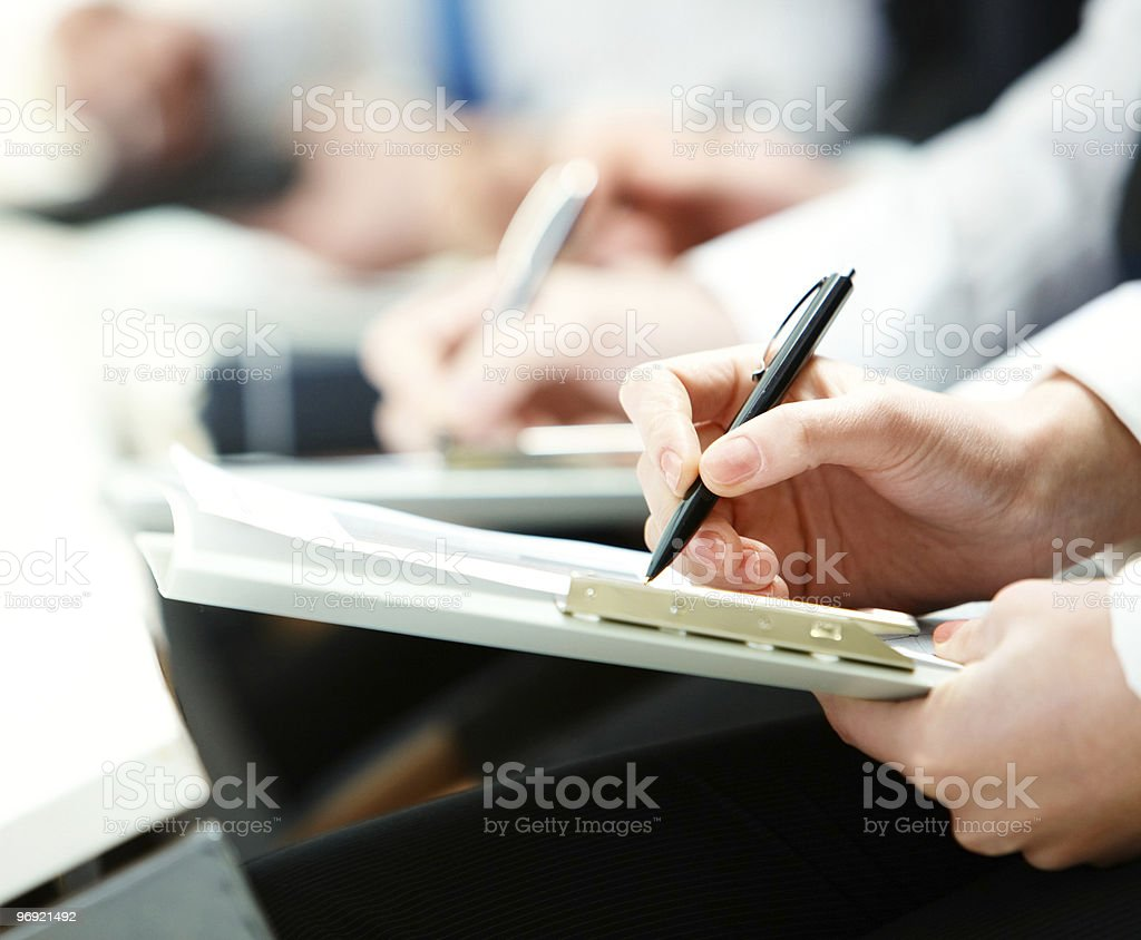 Writing lecture royalty-free stock photo