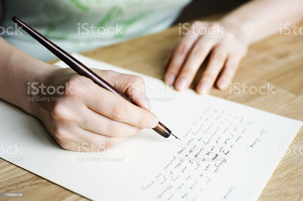 Writing letter royalty-free stock photo