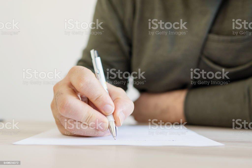 Écrire une lettre photo libre de droits