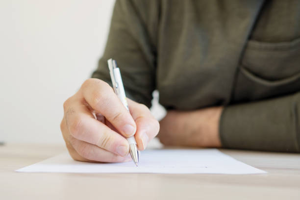 Writing letter Writing letter note message stock pictures, royalty-free photos & images