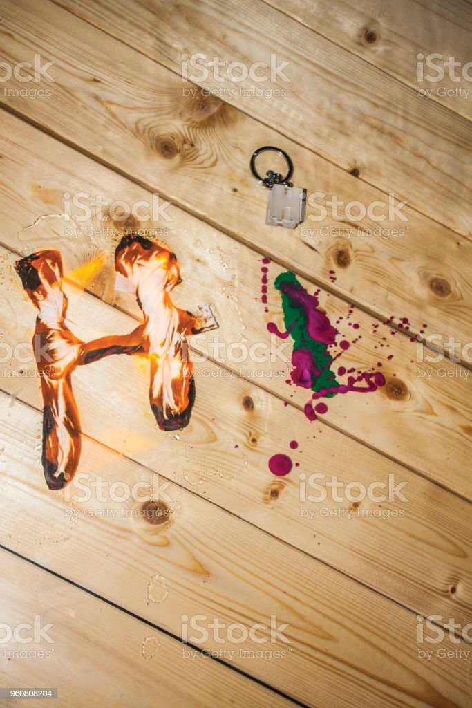 Writing Letters With Objects Typography Background Unit Isolate