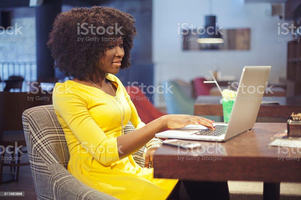 Writing my blog stock photo