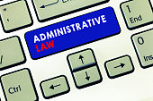 Writing note showing Administrative Law. Business photo showcasing Body of Rules regulations Orders created by a government