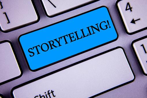 Foto De O Bilhete Mostrando Chamar Motivacional De Contação De Histórias Foto De Negócios Apresentando Dizer Curtas Histórias De Experiências Pessoais