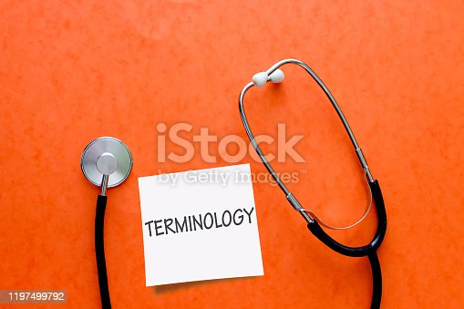 Writing note showing Terminology