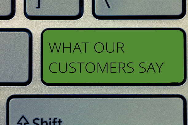 Writing note showing What Our Customers Say. Business photo showcasing to know Users Feedback the Consumers Reactions stock photo