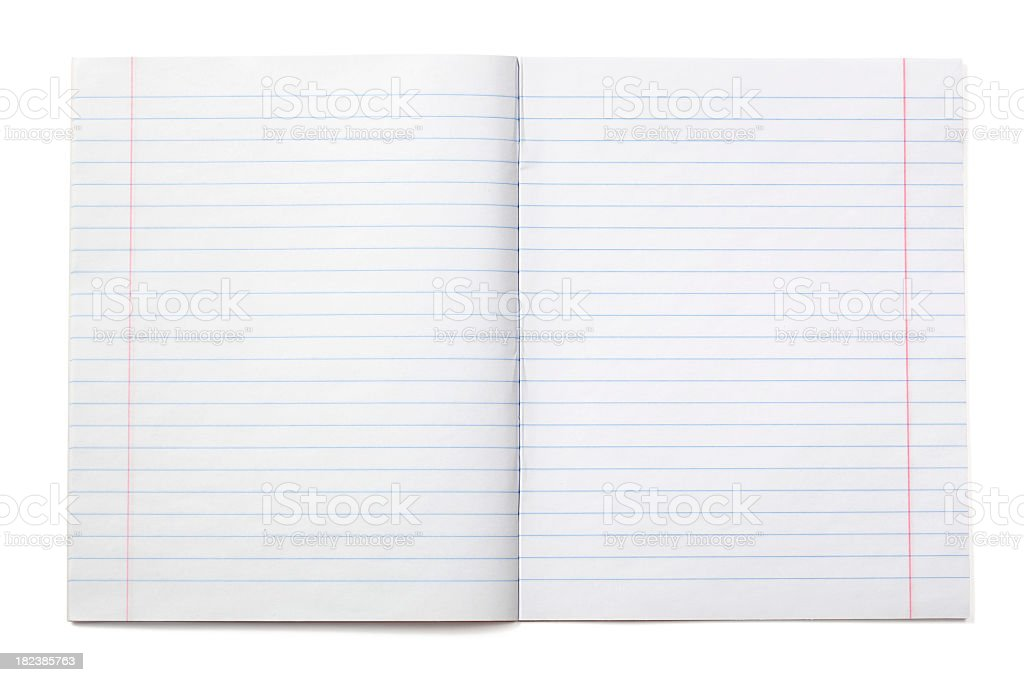 Writing notebook with lined paper (XXXL) stock photo