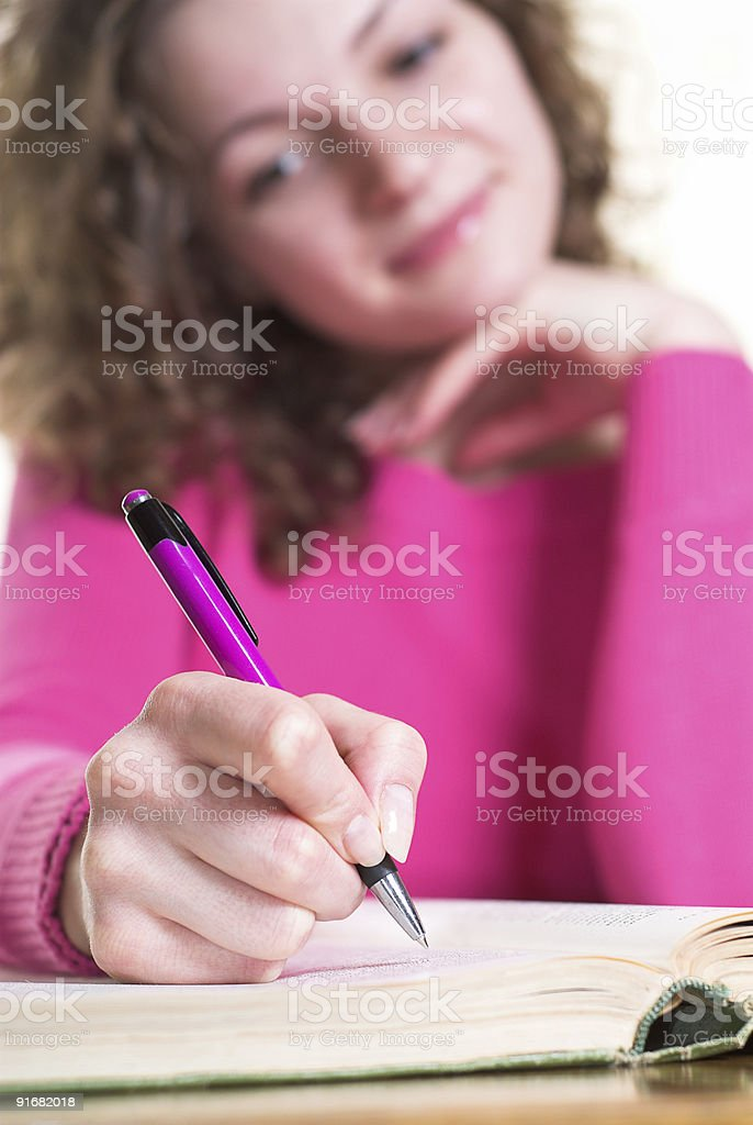 Writing notes royalty-free stock photo