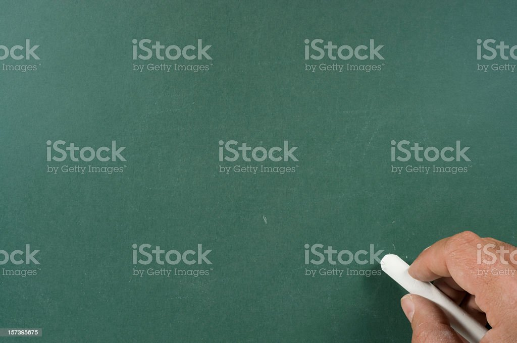 Writing on Blackboard royalty-free stock photo