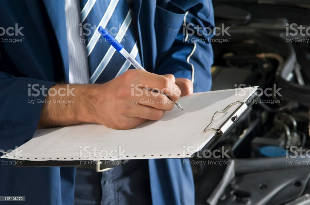 writing on note pad royalty-free stock photo
