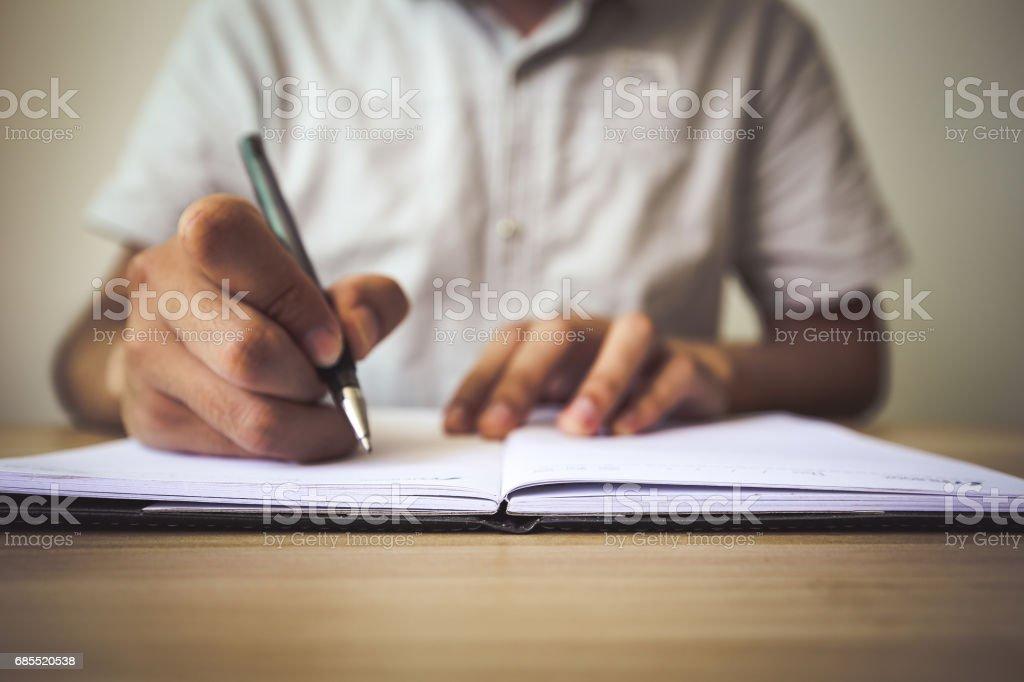 Schreiben auf notebook – Foto