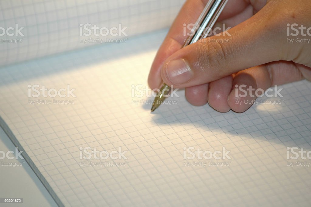writing on notebook royalty-free stock photo