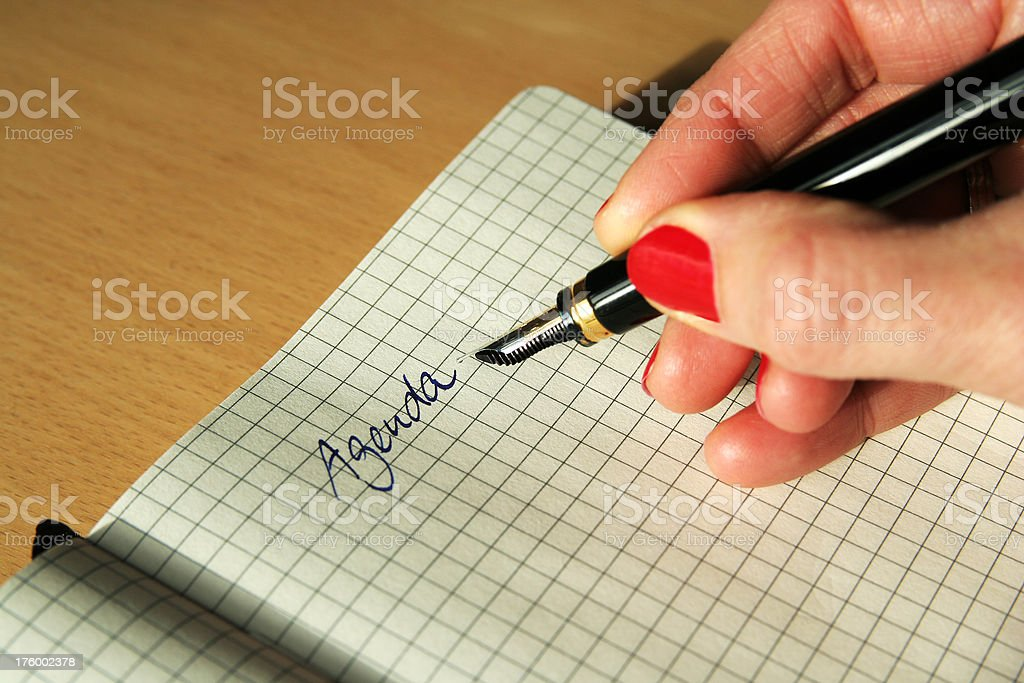 Writing on notepad royalty-free stock photo
