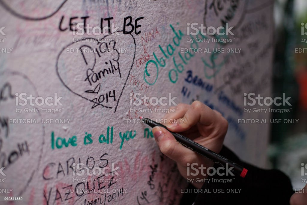 Writing on the wall stock photo