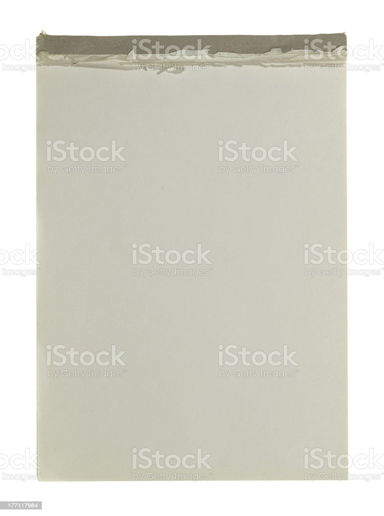 writing pad stock photo