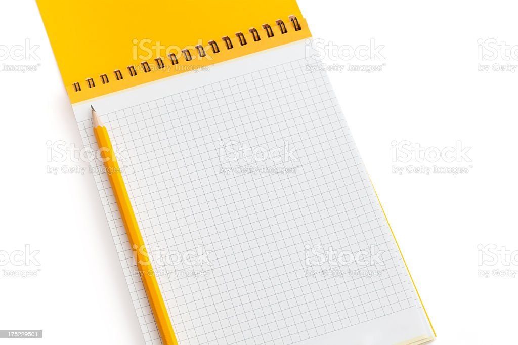 writing pad with pencil royalty-free stock photo