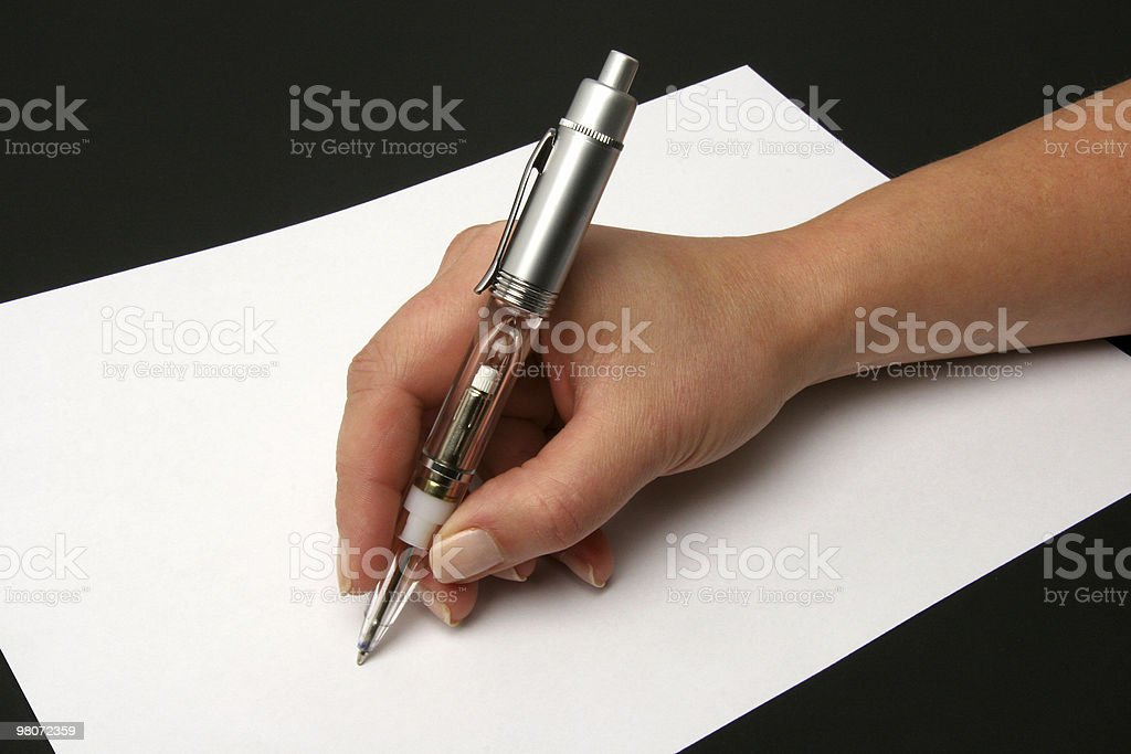 writing royalty-free stock photo