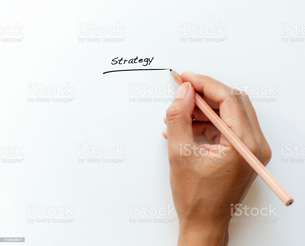 writing strategy stock photo