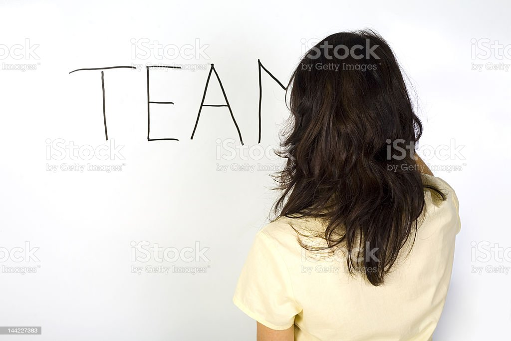 Writing 'team'... royalty-free stock photo