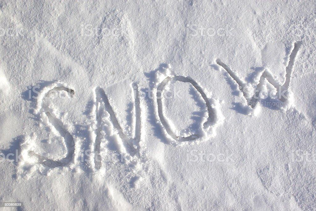 Writing text 'SNOW'. royalty-free stock photo