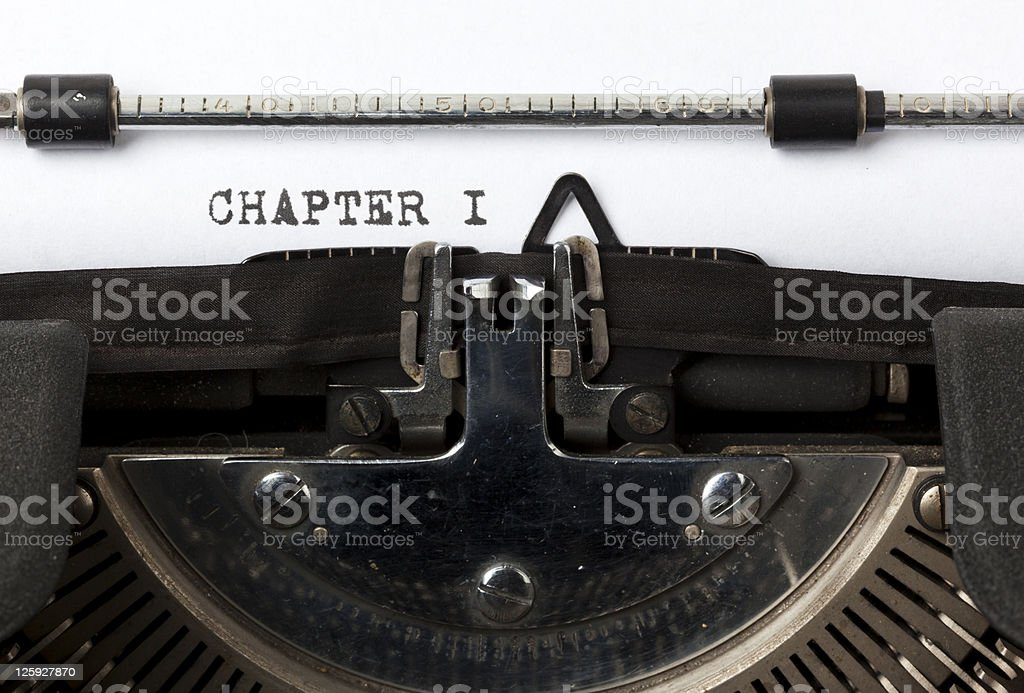 writing the first chapter stock photo
