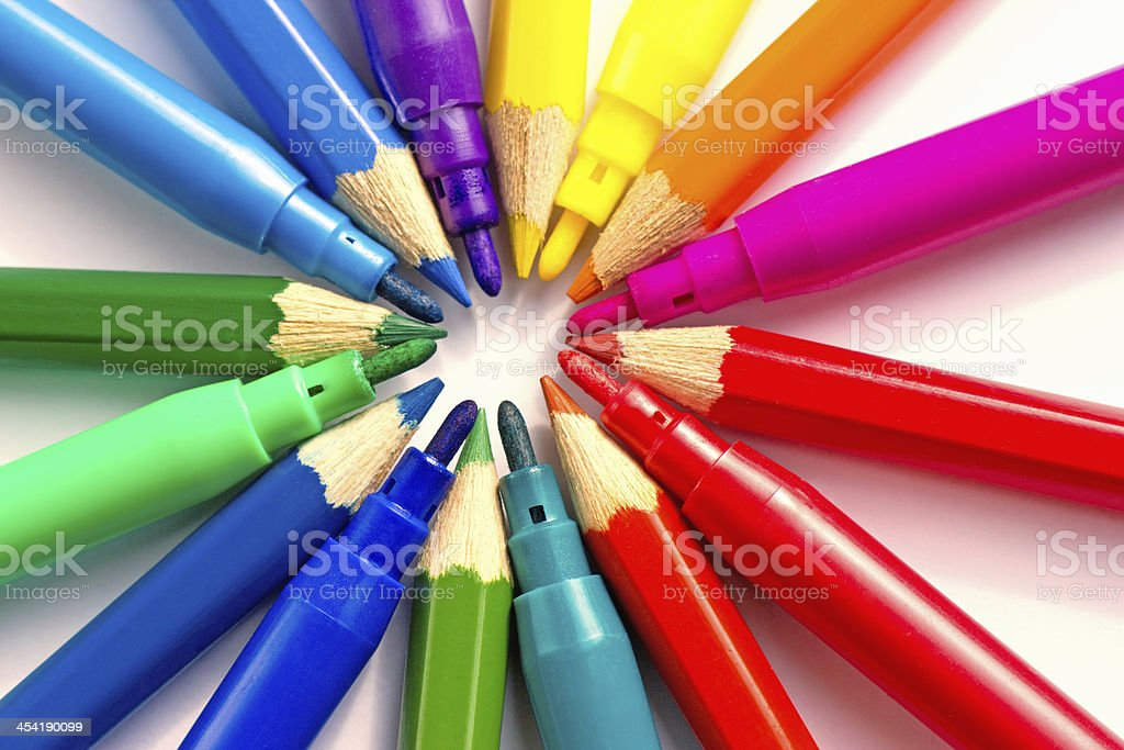 writing tools royalty-free stock photo