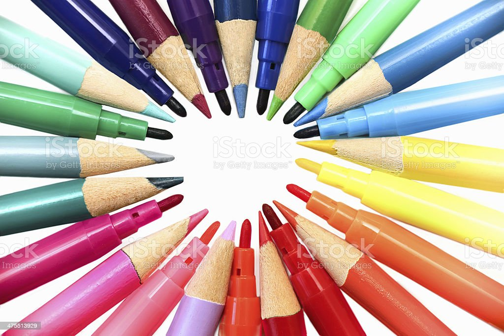 writing tools royalty-free stock photo