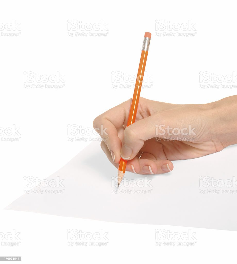 writing [with clipping path] royalty-free stock photo
