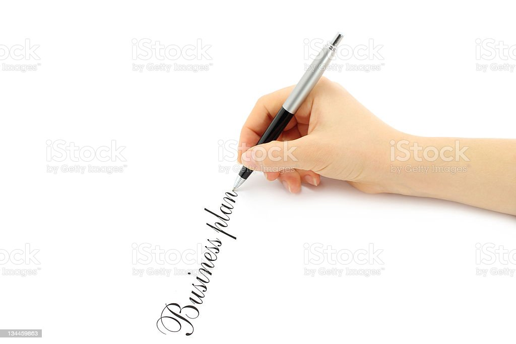 Writing woman hand royalty-free stock photo