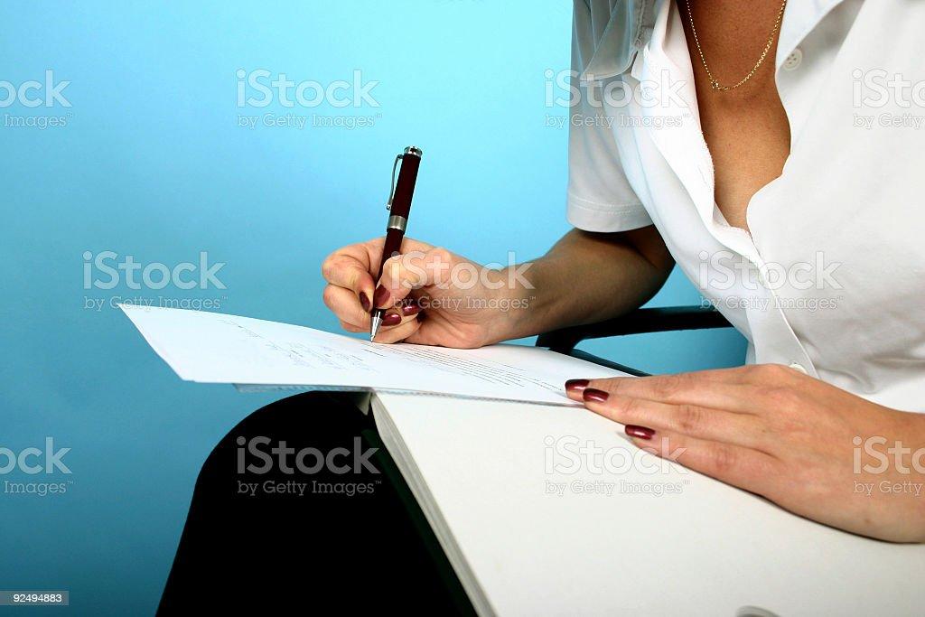 Writing woman royalty-free stock photo