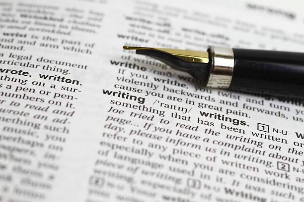 Schreiben Wort und fountain pen – Foto