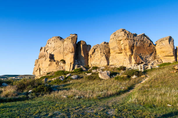 writing-on-stone provincial park in alberta, canada - provincial park stock photos and pictures