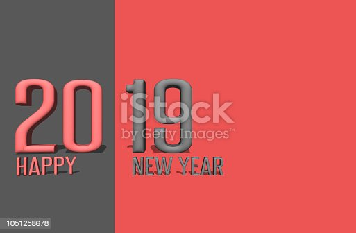 1055666268 istock photo Written 2019 with three dimensional 1051258678