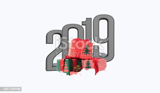 1055666268 istock photo Written 2019 with three dimensional 1051259180