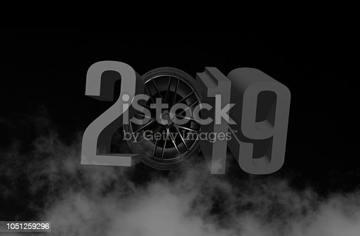 1055666268 istock photo Written 2019 with three dimensional 1051259296