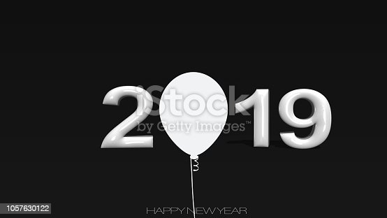 istock Written 2019 with three dimensional with balloon 1057630122