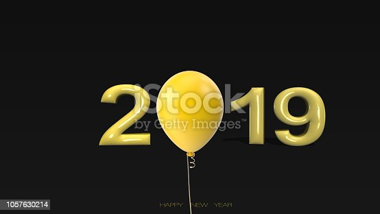 istock Written 2019 with three dimensional with balloon 1057630214
