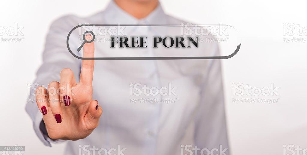 Free Porn Written In Search Bar On Virtual Screen Lizenzfreies Stock Foto