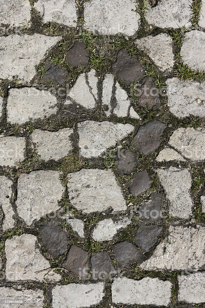 Written in stone: Number 3 royalty-free stock photo