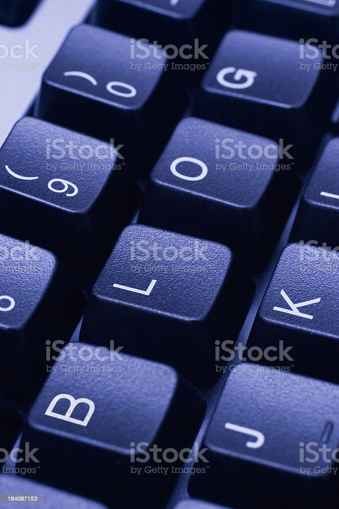 BLOG written on blue computer keyboard royalty-free stock photo