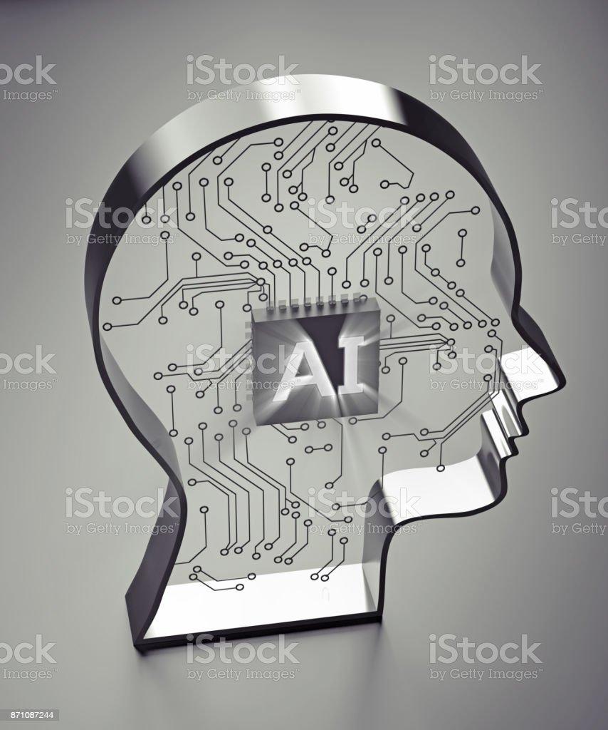 Ki (künstliche Intelligenz), geschrieben an Bord im Kopf – Foto