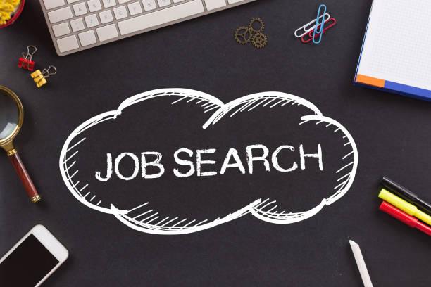 JOB-Suche auf die Tafel geschrieben – Foto