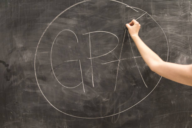 GPA Written on Chalkboard stock photo