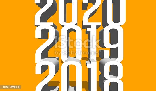 istock 2018-2019-2020 written on colored background. 1051259910